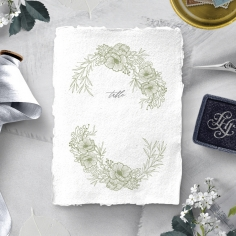 Love Estate wedding venue table number card design