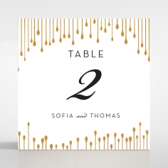 Luxe Intrigue wedding table number card stationery