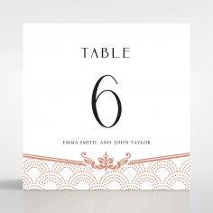 Luxe Victorian table number card stationery design