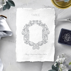 Modern Monogram wedding reception table number card