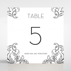 Paper Polished Affair wedding stationery table number card