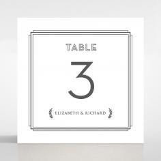 Playful Love table number card design