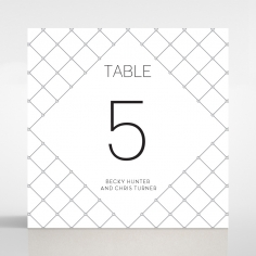 Quilted Grace reception table number card design