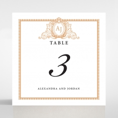 Royal Lace wedding stationery table number card design