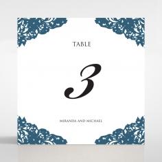 Royal Prestige wedding reception table number card stationery