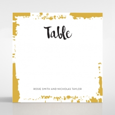 Rusted Charm table number card stationery item