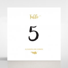 Rustic Lustre wedding stationery table number card design