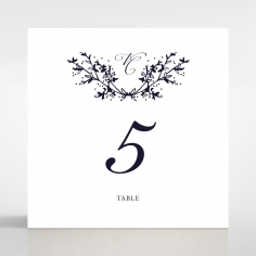 Secret Garden wedding venue table number card