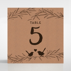Springtime Love wedding reception table number card stationery design