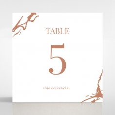 Stonework wedding table number card stationery design