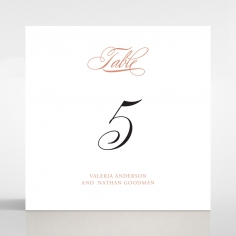 Timeless Romance table number card stationery