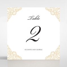 Vintage Prestige reception table number card stationery
