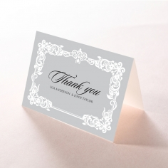Black Divine Damask thank you stationery card item