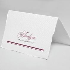 Burgandy Rose thank you wedding card design