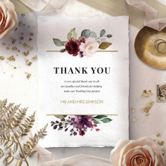 Contemporary Love thank you wedding card