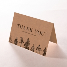 Delightful Forest Romance wedding stationery thank you card item