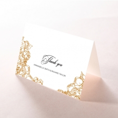 Flourishing Garden Frame thank you wedding card design