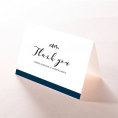 Forever Love Booklet - Navy wedding thank you stationery card item