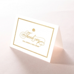 Gold Foil Baroque Gates wedding thank you stationery card