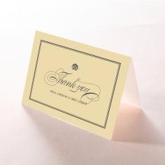 Golden Baroque Gates wedding thank you card design