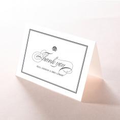 Golden Baroque Gates wedding thank you stationery card