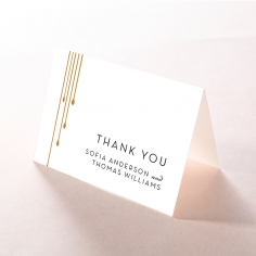 Luxe Intrigue thank you wedding card