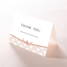 Luxe Victorian wedding thank you stationery card item