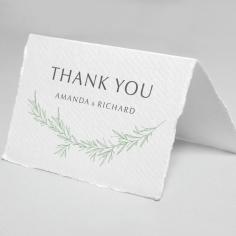 Minimalist Wreath thank you wedding card