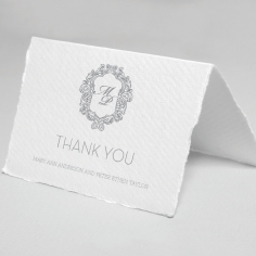 Modern Monogram thank you wedding stationery card design