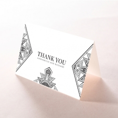 Paper Ace of Spades wedding thank you stationery card design