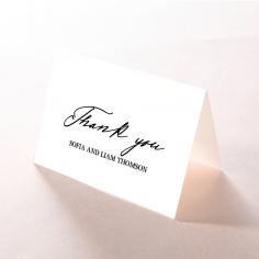 Paper Modern Romance thank you wedding card design