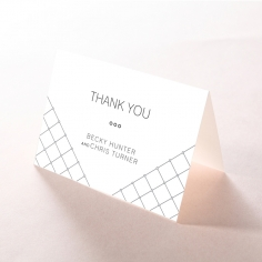 Quilted Grace wedding thank you stationery card