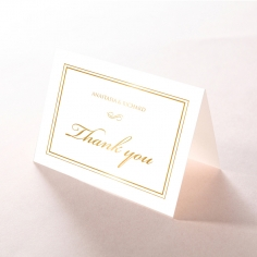 Quilted Letterpress Elegance with foil thank you invitation card