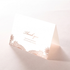 Regal Charm Letterpress with foil thank you card design