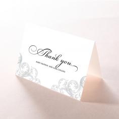 Regally Romantic thank you wedding card