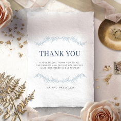 Romantic Soiree wedding stationery thank you card