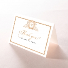 Royal Lace wedding stationery thank you card design