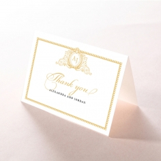 Royal Lace wedding thank you stationery card item