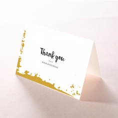 Rusted Charm wedding stationery thank you card