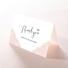 Rustic Elegance wedding thank you card