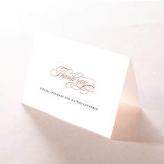 Timeless Romance thank you wedding card design