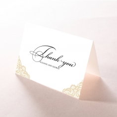 Vintage Prestige thank you wedding stationery card design