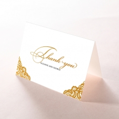 Vintage Prestige with Foil thank you wedding stationery card item
