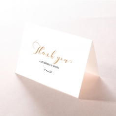 Written In The Stars - Navy wedding stationery thank you card design