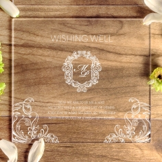 Acrylic Aristocrat wedding gift registry invitation card
