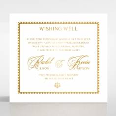 Black Doily Elegance with Foil gift registry invitation