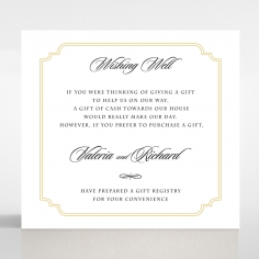 Black Victorian Gates wedding stationery wishing well enclosure card
