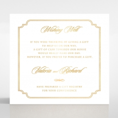 Black Victorian Gates with Foil wedding stationery wishing well enclosure card design