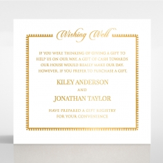 Blooming Charm with Foil wedding stationery wishing well invitation card