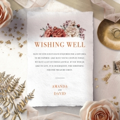 Blossoming Love wishing well stationery card